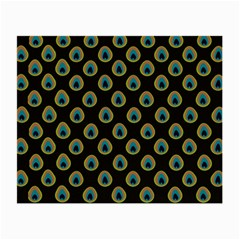 Peacock Inspired Background Small Glasses Cloth
