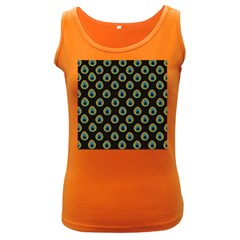 Peacock Inspired Background Women s Dark Tank Top