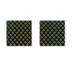 Peacock Inspired Background Cufflinks (square)