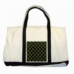 Peacock Inspired Background Two Tone Tote Bag