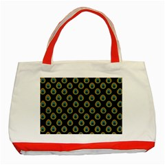 Peacock Inspired Background Classic Tote Bag (Red)