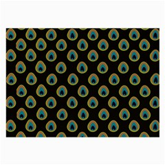 Peacock Inspired Background Large Glasses Cloth (2-Side)