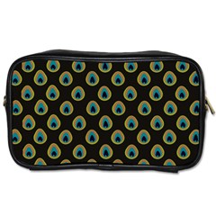 Peacock Inspired Background Toiletries Bags 2-Side