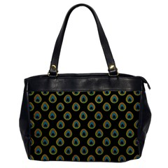 Peacock Inspired Background Office Handbags