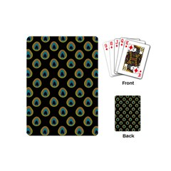 Peacock Inspired Background Playing Cards (mini)