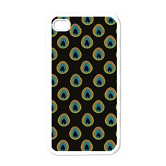 Peacock Inspired Background Apple iPhone 4 Case (White)