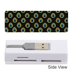 Peacock Inspired Background Memory Card Reader (stick)