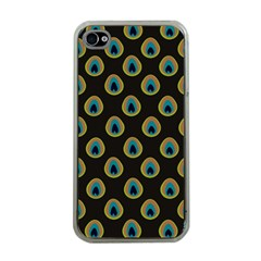 Peacock Inspired Background Apple iPhone 4 Case (Clear)