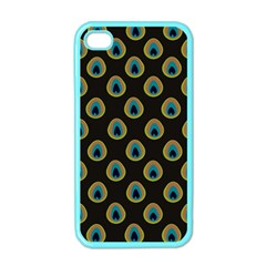 Peacock Inspired Background Apple iPhone 4 Case (Color)