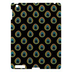 Peacock Inspired Background Apple iPad 3/4 Hardshell Case