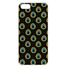 Peacock Inspired Background Apple Iphone 5 Seamless Case (white)
