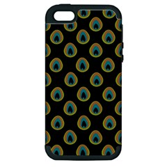 Peacock Inspired Background Apple iPhone 5 Hardshell Case (PC+Silicone)