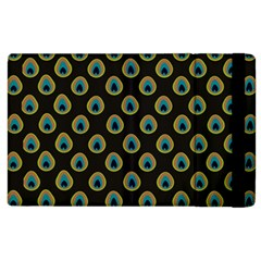 Peacock Inspired Background Apple iPad 2 Flip Case