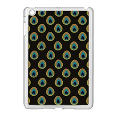 Peacock Inspired Background Apple Ipad Mini Case (white)