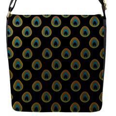 Peacock Inspired Background Flap Messenger Bag (S)