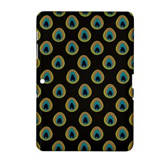 Peacock Inspired Background Samsung Galaxy Tab 2 (10.1 ) P5100 Hardshell Case