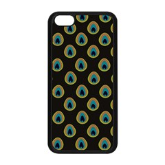 Peacock Inspired Background Apple iPhone 5C Seamless Case (Black)