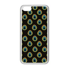 Peacock Inspired Background Apple iPhone 5C Seamless Case (White)