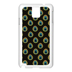 Peacock Inspired Background Samsung Galaxy Note 3 N9005 Case (White)