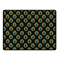 Peacock Inspired Background Double Sided Fleece Blanket (Small)