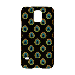 Peacock Inspired Background Samsung Galaxy S5 Hardshell Case