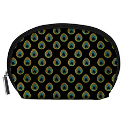 Peacock Inspired Background Accessory Pouches (Large)