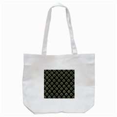 Peacock Inspired Background Tote Bag (White)