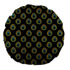 Peacock Inspired Background Large 18  Premium Flano Round Cushions