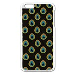 Peacock Inspired Background Apple iPhone 6 Plus/6S Plus Enamel White Case Front