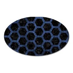HXG2 BK-MRBL BL-STONE Oval Magnet