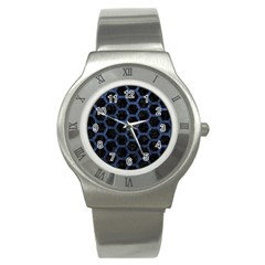 HXG2 BK-MRBL BL-STONE Stainless Steel Watch