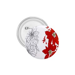 Poinsettia Flower Coloring Page 1.75  Buttons