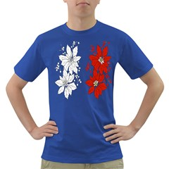 Poinsettia Flower Coloring Page Dark T Shirt