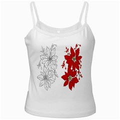 Poinsettia Flower Coloring Page Ladies Camisoles