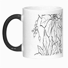 Poinsettia Flower Coloring Page Morph Mugs
