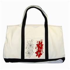 Poinsettia Flower Coloring Page Two Tone Tote Bag