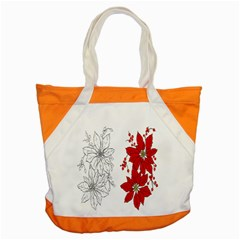 Poinsettia Flower Coloring Page Accent Tote Bag