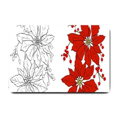 Poinsettia Flower Coloring Page Small Doormat