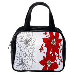Poinsettia Flower Coloring Page Classic Handbags (one Side)