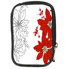 Poinsettia Flower Coloring Page Compact Camera Cases