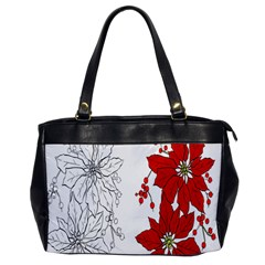 Poinsettia Flower Coloring Page Office Handbags