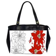 Poinsettia Flower Coloring Page Office Handbags (2 Sides)