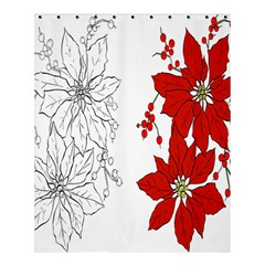 Poinsettia Flower Coloring Page Shower Curtain 60  X 72  (medium)