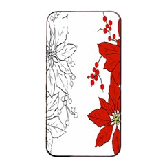 Poinsettia Flower Coloring Page Apple Iphone 4/4s Seamless Case (black)