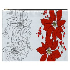 Poinsettia Flower Coloring Page Cosmetic Bag (xxxl)