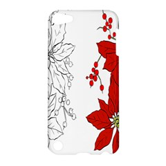 Poinsettia Flower Coloring Page Apple iPod Touch 5 Hardshell Case