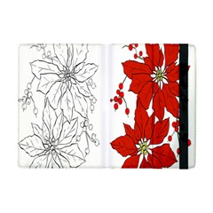 Poinsettia Flower Coloring Page Apple iPad Mini Flip Case