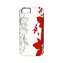 Poinsettia Flower Coloring Page Apple Iphone 5 Classic Hardshell Case (pc+silicone)