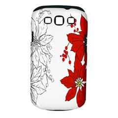 Poinsettia Flower Coloring Page Samsung Galaxy S III Classic Hardshell Case (PC+Silicone)