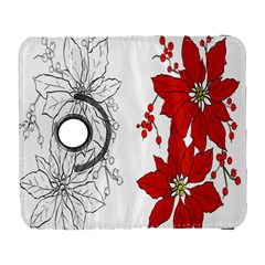 Poinsettia Flower Coloring Page Galaxy S3 (Flip/Folio)